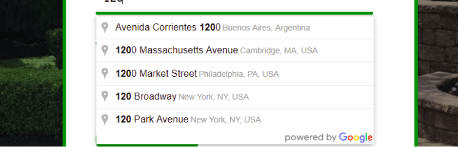 Autocomplete Google Address