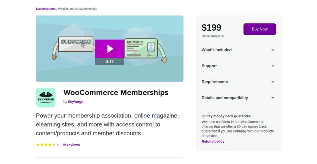 WooCommerce Memberships - Subscription Plugins