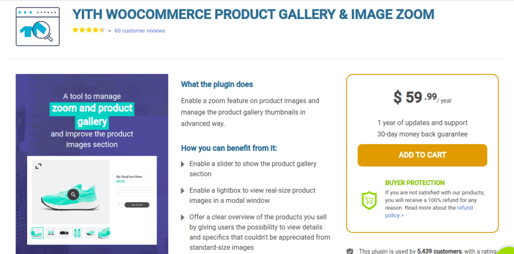 YITH WooCommerce Product Gallery and Image Zoom