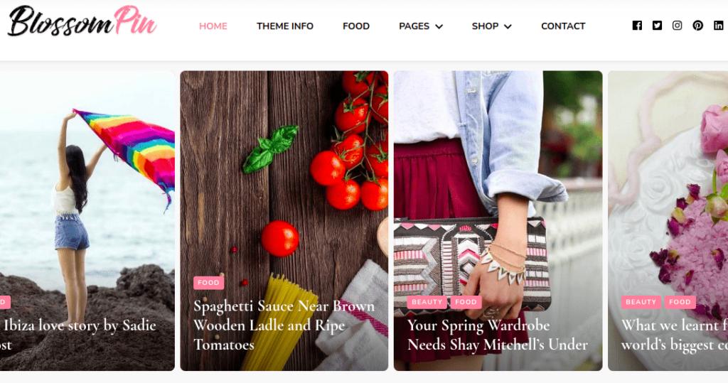 Blossom Pin, Fashion WordPress Themes