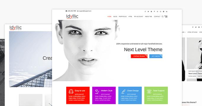Idyllic WordPress Fashion Theme
