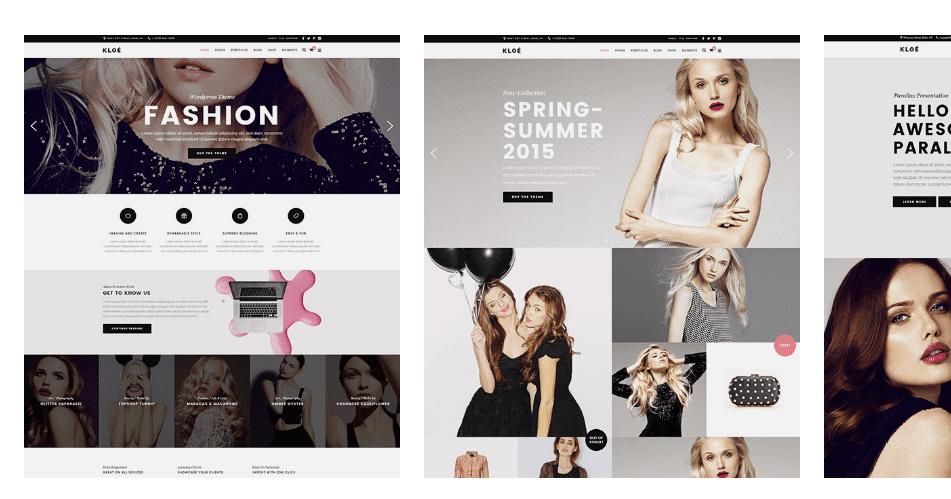 Kloe fashion portfolio, blog, online store theme for wordpress